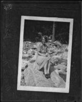 Portrait of Mary Hickman [rephotographed], Los Angeles, circa 1928