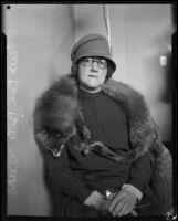 Mrs. Cora Belle Weeks, a possible spectator at the Hickman kidnapping trial, Los Angeles, 1928