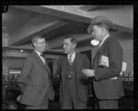 Dr. A. L. Skoog, assistant jailer Roy Bogle, and defense attorney Jerome Walsh, Los Angeles, 1928
