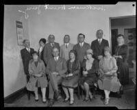 Jury members for the Hickman-Hunt murder trial, Los Angeles, 1928