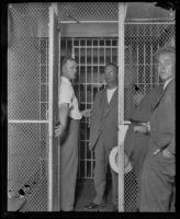 Frank D. Keaton, murderer of Motley Flint, in jail, Los Angeles, 1930