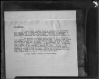 "Court exhibit titled ""Conclusions,"" related to a C. C. Julian court case, 1926-1928"