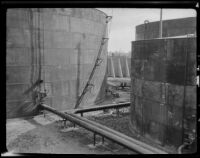 Oil storage tank of the Julian Petroleum Corporation, 1924-1933
