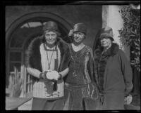 Lady Agnes Adams, Greta Millikan and Caroline Munro, 1920-1935