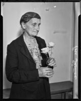 Rose Thomas, arrested for stealing rose plants, Los Angeles, 1935
