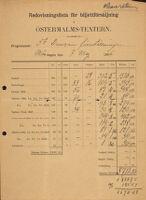 Redovisningslista för biljettförsäljning, 1906 May 7