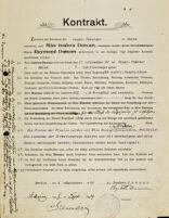 Kontrakt, 1904 September 2