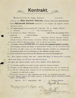 Kontrakt, 1904 September 1