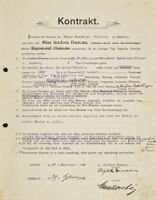 Kontrakt, 1904 September 27