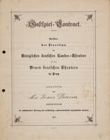 Gastspiel-Contract, n.d.