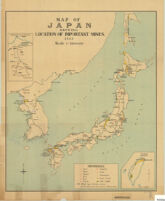 Map Of Japan Showing Location Of Important Mines 1913
