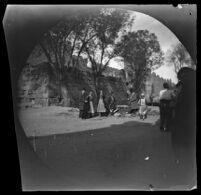People gathered near the city walls, Kayseri, 1891