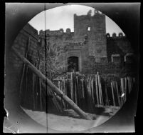 Kayseri Kalesi walls, Kayseri, Turkey, 1891