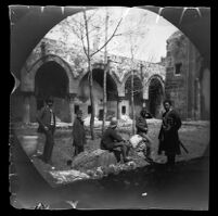 William Sachtleben and others inside the Buruciye Medresesi, Sivas, 1891