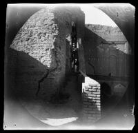 Ark-i ʻAlīshāh-i Tabrīz, William Sachtleben descending the stairs leading to the top, Tabrīz, Iran, 1891