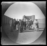 Ark-i ʻAlīshāh-i Tabrīz, view of the courtyard with William Sachtleben, Thomas Allen, missionaries and others, Tabrīz, Iran, 1891