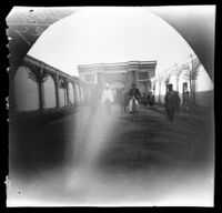 William Sachtleben and Thomas Allen leaving the palace of Emir Nizam, Tabrīz, Iran, 1891