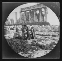Photographers on the Acropolis, Athens, 1891