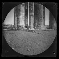 Serope Gurdjian (probably) at the Temple of Olympian Zeus, Athens, 1891