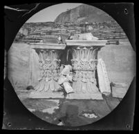 Four Corinthian capitals at the Theater of Dionysus Eleuthereus, Athens, 1891