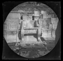 Marble throne reserved for the priest of Dionysus at the Theater of Dionysus Eleuthereus, Athens, 1891