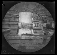 Marble throne in the Theater of Dionysus Eleuthereus, Athens, 1891