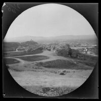 Panoramic view towards Mars' Hill (Areopagus) from the Acropolis, Athens, 1891