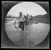 William Sachtleben crossing a small stream near (Endires?), Turkey, 1891