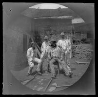 Near the entrance into the Lidjessy Mines, Thomas Allen, Mr. Rowe, Mr. Northay and William Sachtleben, Şebinkarahisar vicinity, Turkey, 1891