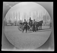 Governor-General of Turkistan entering his carriage on the parade ground in front of the cathedral, Tashkent, Uzbekistan, 1891