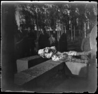 Armenian massacre victim laid out in the Armenian Gregorian Cemetery, Erzurum, Turkey, 1895