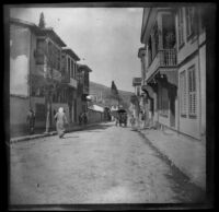 Street scene looking west from Hotel d'Anatola, Bursa, Turkey, 1895