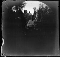 """Taking tea """"a la Perse"""" with the Persian Consul, Erzurum, Turkey, 1891"""