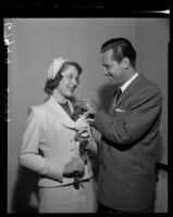 Eleanor Payne and William Holden, Huntington Hotel, Pasadena, 1950