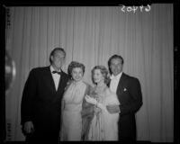 Ben Gage, Esther Williams, Arlene Dahl, and Lew Barker at the Academy Awards, Los Angeles, 1951