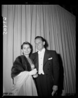 William Holden and Brenda Marshall, Academy Awards, Los Angeles, 1951
