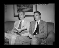 L. Brent Bozell and William F. Buckley Jr. at the Biltmore Hotel, Los Angeles, 1954