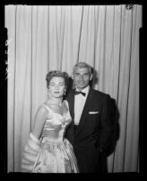 Jeff Chandler and Marjorie Hoshelle, Academy Awards, 1955