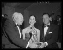 Robert O'Donnell, Jennifer Jones, and William Holden, Beverly Hills, 1955