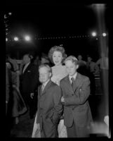 Susan Hayward with her sons Tim and Greg, Academy Awards, Los Angeles, 1956