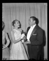 Grace Kelly and Ernest Borgnine, Academy Awards, Los Angeles, 1956