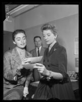 Anna Maria Alberghetti, Deborah Kerr, and Harold E. Hulsing, Los Angeles, 1957