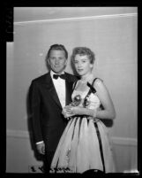 Kirk Douglas and Deborah Kerr, Golden Globe Awards, Los Angeles, 1957