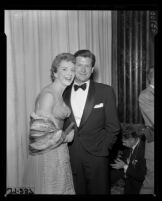 Deborah Kerr and Tony Bartley, Academy Awards, Los Angeles, 1957