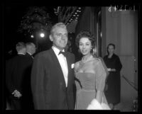 Dana Wynter and her husband Greg Bautzer, Los Angeles, 1957