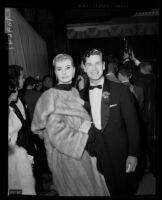 Anita Ekberg and Anthony Steel, Academy Awards, Los Angeles, 1956