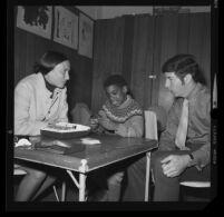 Dr. James Gardner and Doris Oliker working with child, Psychological Center of Los Angeles, Venice, 1970