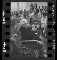 Patients attending a Catholic mass at Pacific State Hospital, Pomona, 1974