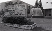 Sign outside Dr. Gene Scott's Faith Center church complex, Glendale, 1980