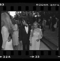 John Mercedes and Charlene Tilton at a City of Hope party at Pickfair honoring Jerry Buss, Beverly Hills, 1981